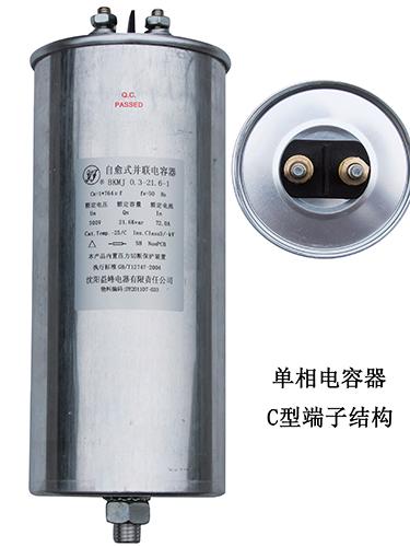 单相电容器C型端子结构