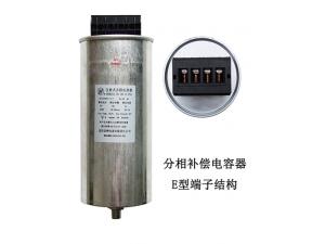 低压滤波电容器E型端子结构