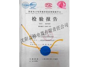 国家电力电容器质量监督检验中心低压电容器2008年检验报告